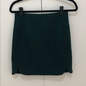 JCREW Green Skirt